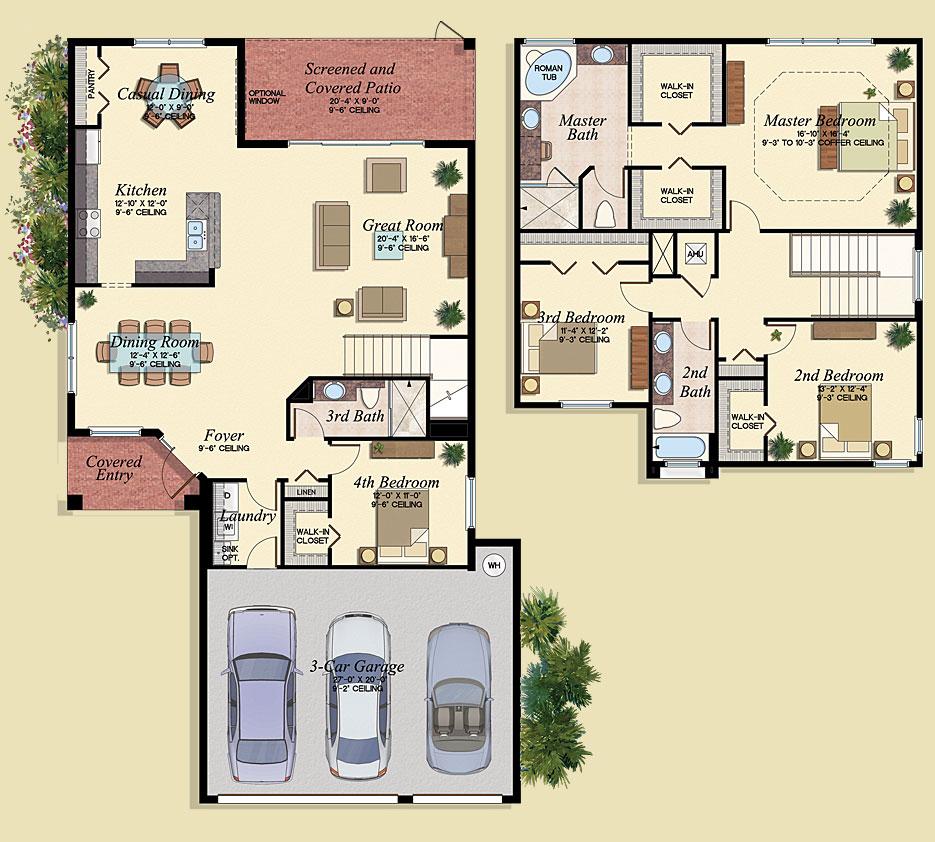 Avila Floor Plan - Marbella Lakes