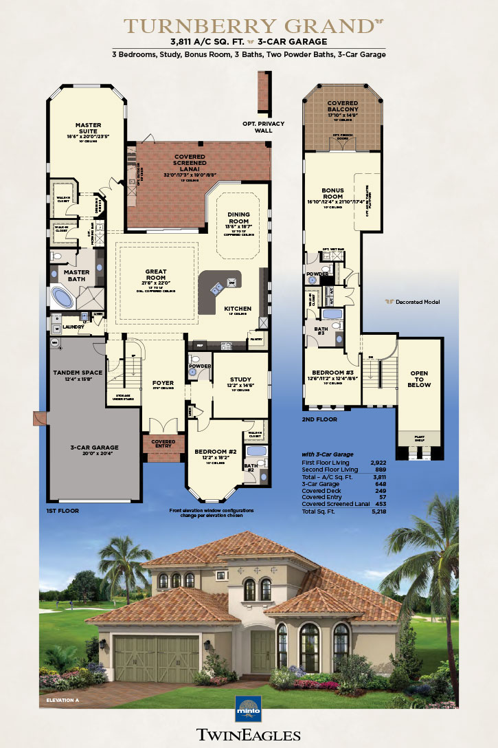 Minto Twin Eagles Turnberry Grand Floor Plan