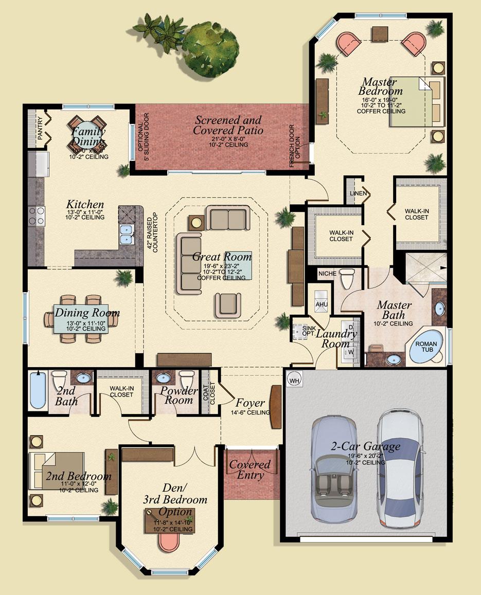 Valencia Floor Plan - Marbella Lakes