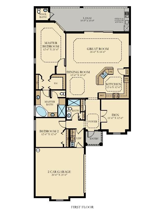Lennar Twin Eagles Victoria Floor Plan