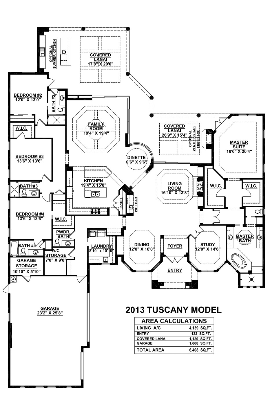 Stock Signature Homes Twin Eagles Tuscany Floor Plan