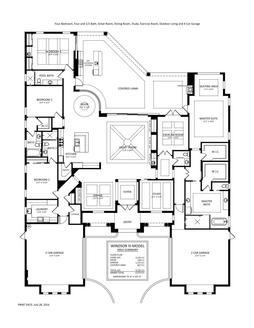 Stock Signature Homes Twin Eagles Windsor III Floor Plan