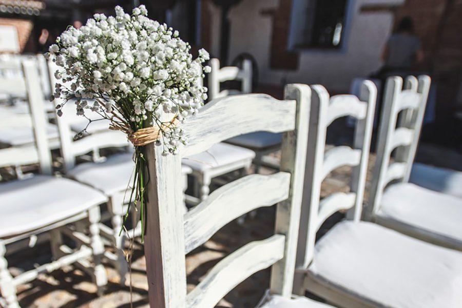Detalle floral en La Posta Real