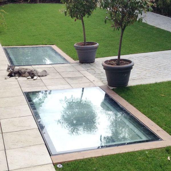réalisation vue extérieure jardin