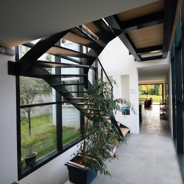 vue intérieure escalier architecte