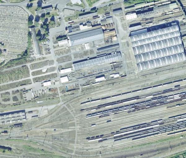 vue aérienne Ternier SNCF
