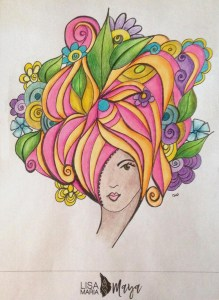 There She Is adult coloring page by LisaMaria Maya