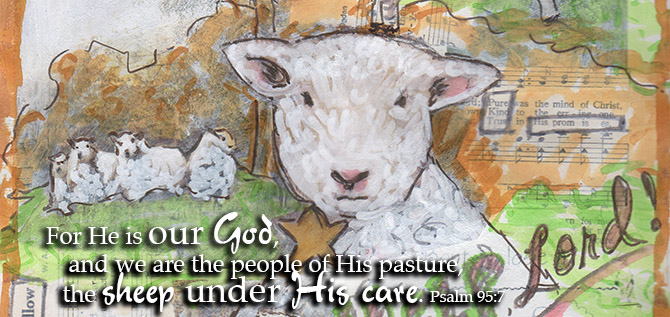 Psalm 95:7 w Sheep