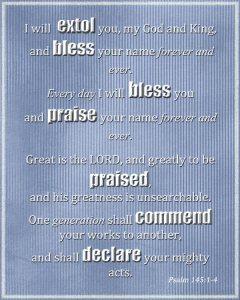 Psalm 145:1-4
