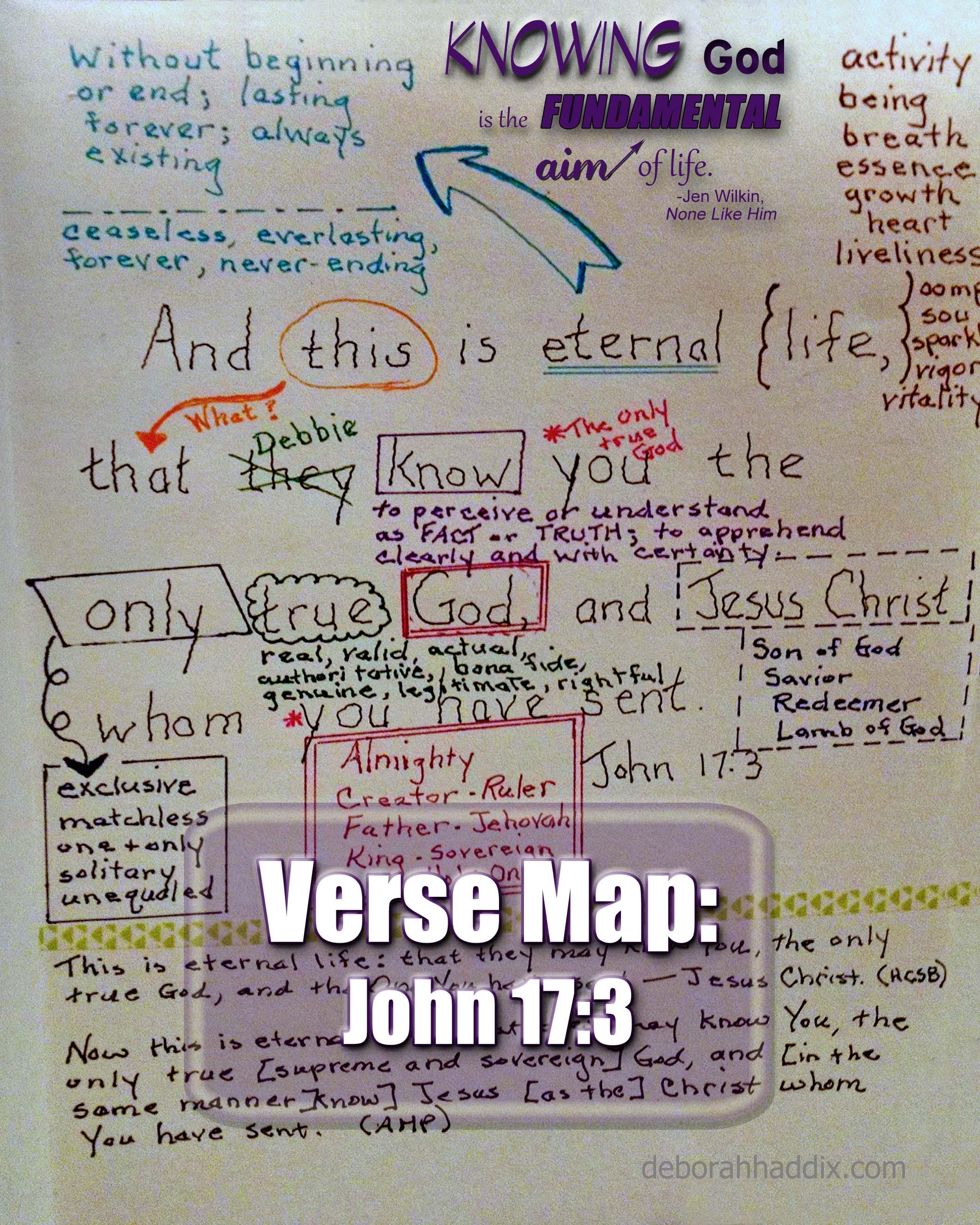John 17 3 A Verse Map