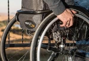 Guy on a wheelchair