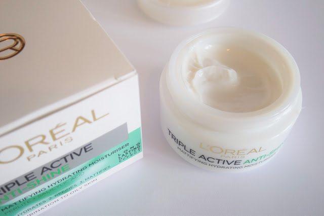 L'Oreal Triple Active Anti-Shine crema matifiantă | păreri | Debora Tentiș