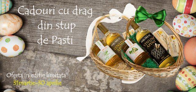 Coșuri cadou pentru Paște – produse apicole