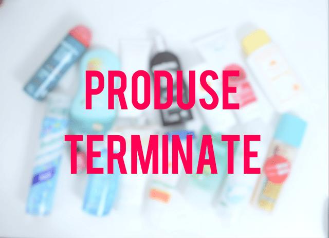 Produse Terminate – Octombrie 2016