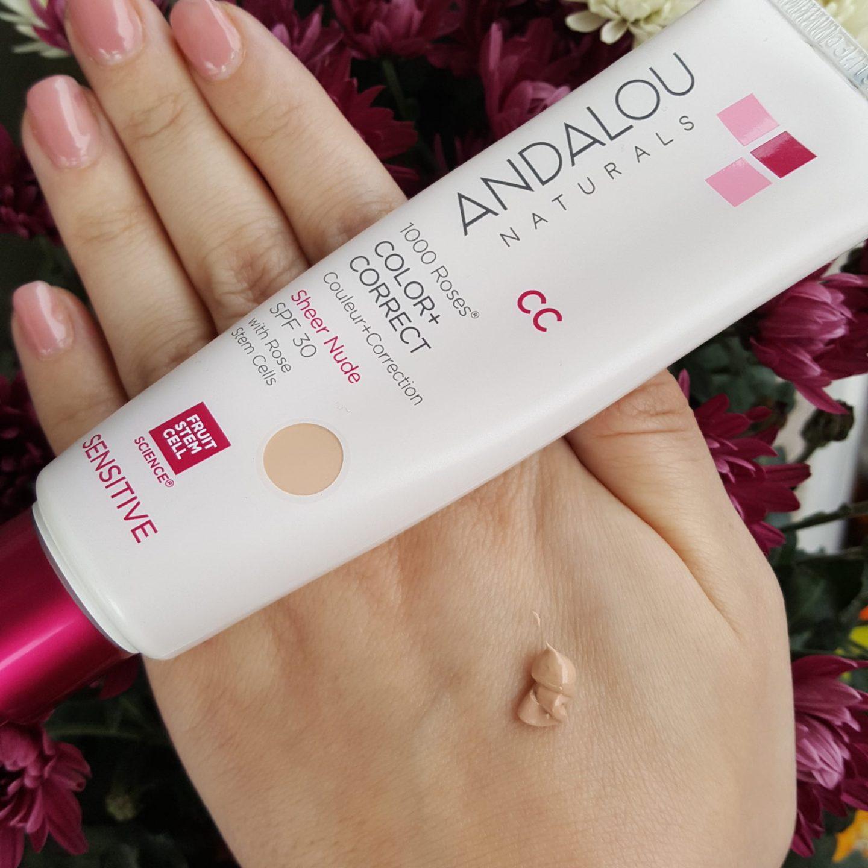 nuanta crema pentru ten sensibil cu protectie solara ingrediente naturale CC Cream SPF 30 andalou secom deboratentis.ro