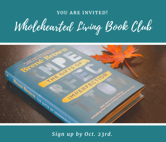 Fall Into Reading: Join Our Wholehearted Living Book Club