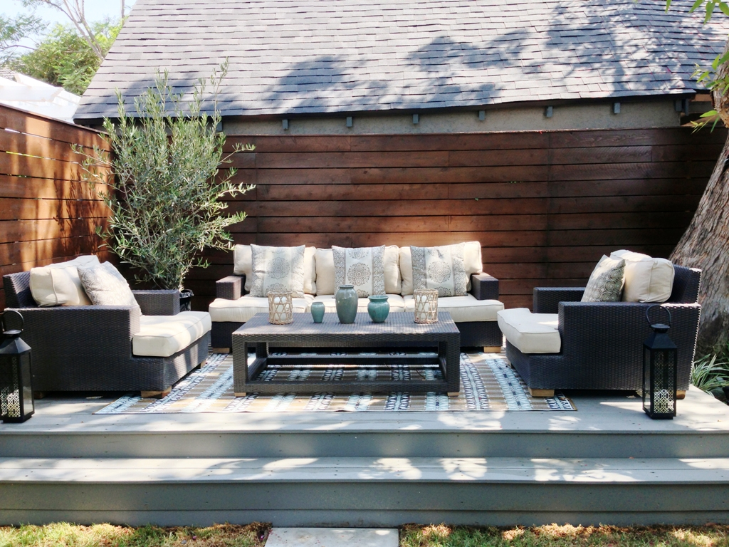 Debra Prinzing » Articles » Budget backyard makeover ... on Patio Makeovers On A Budget id=49469