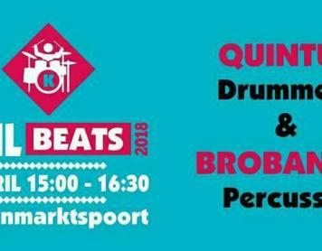 Gezamenlijk optreden Quintus drummers en Brobando percussie