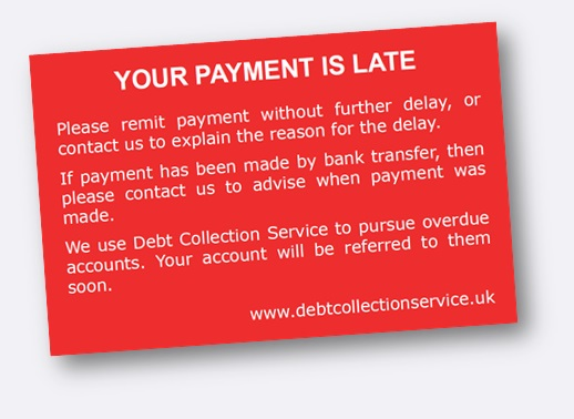 Your Payment is Late card