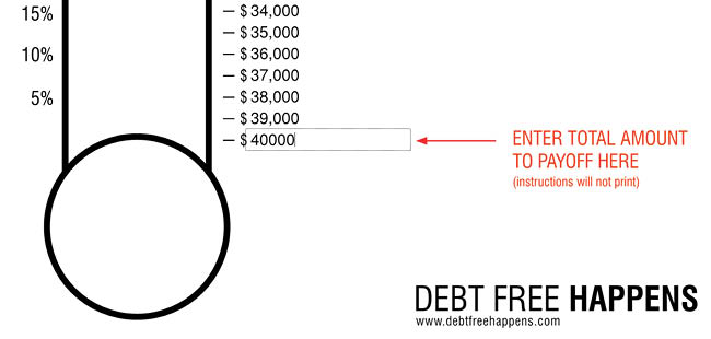 photograph relating to Thermometer Printable named Totally free Personal debt Thermometer Template