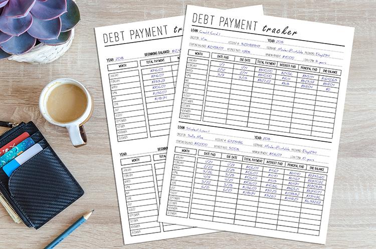 Debt Payment Tracker - Modern Printable Shop