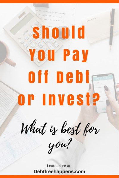 Should you pay off debt or invest
