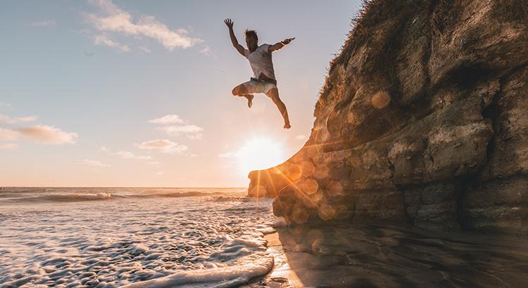 Beach Jump Cliff