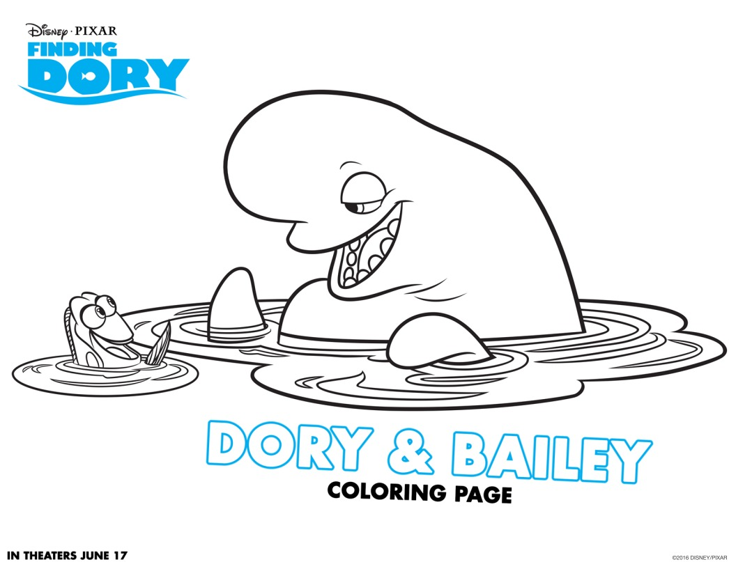Have Fun With Finding Dory Coloring Pages And Activity