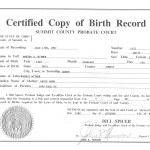 live birth certificate