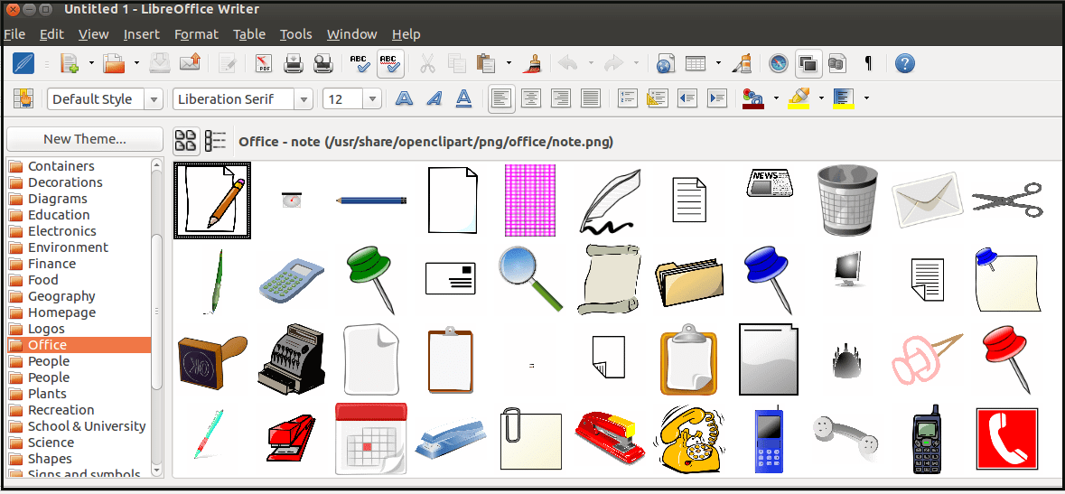How to install and add Clip Arts in LibreOffice