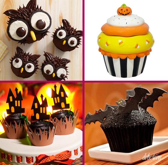 cupcakes para festas de halloween de 15 anos