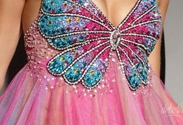 vestidos de borboletas