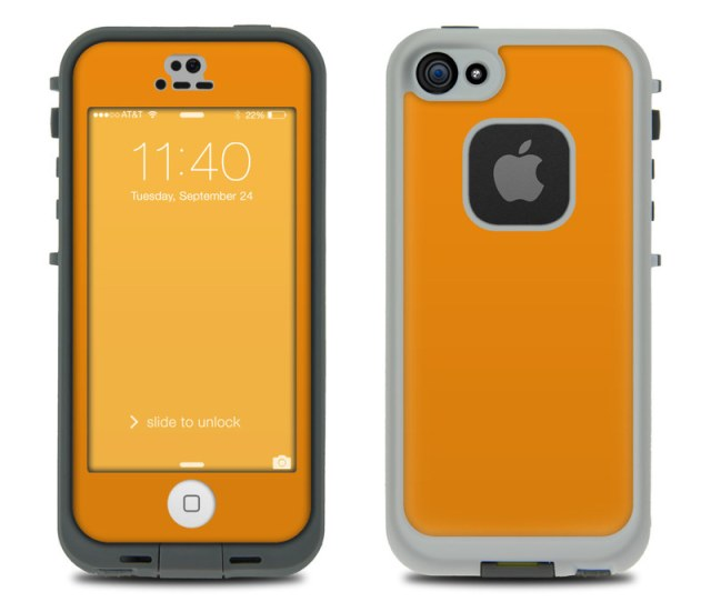 Lifeproof Iphone 5s Fre Case Skin Solid State Orange
