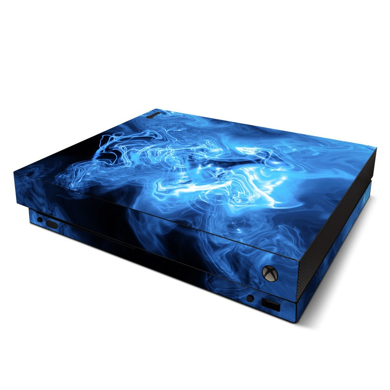 Microsoft Xbox One X Skin Blue Quantum Waves By Gaming