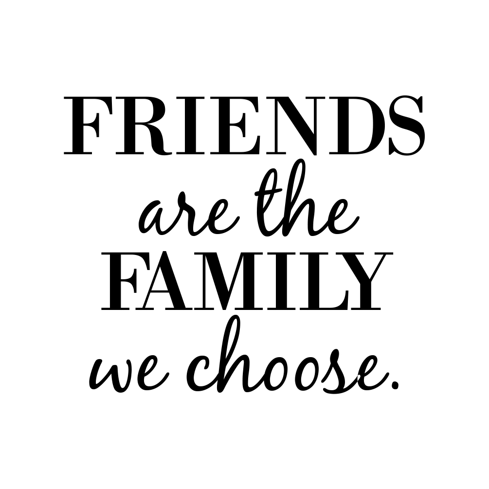 Image result for friends are family