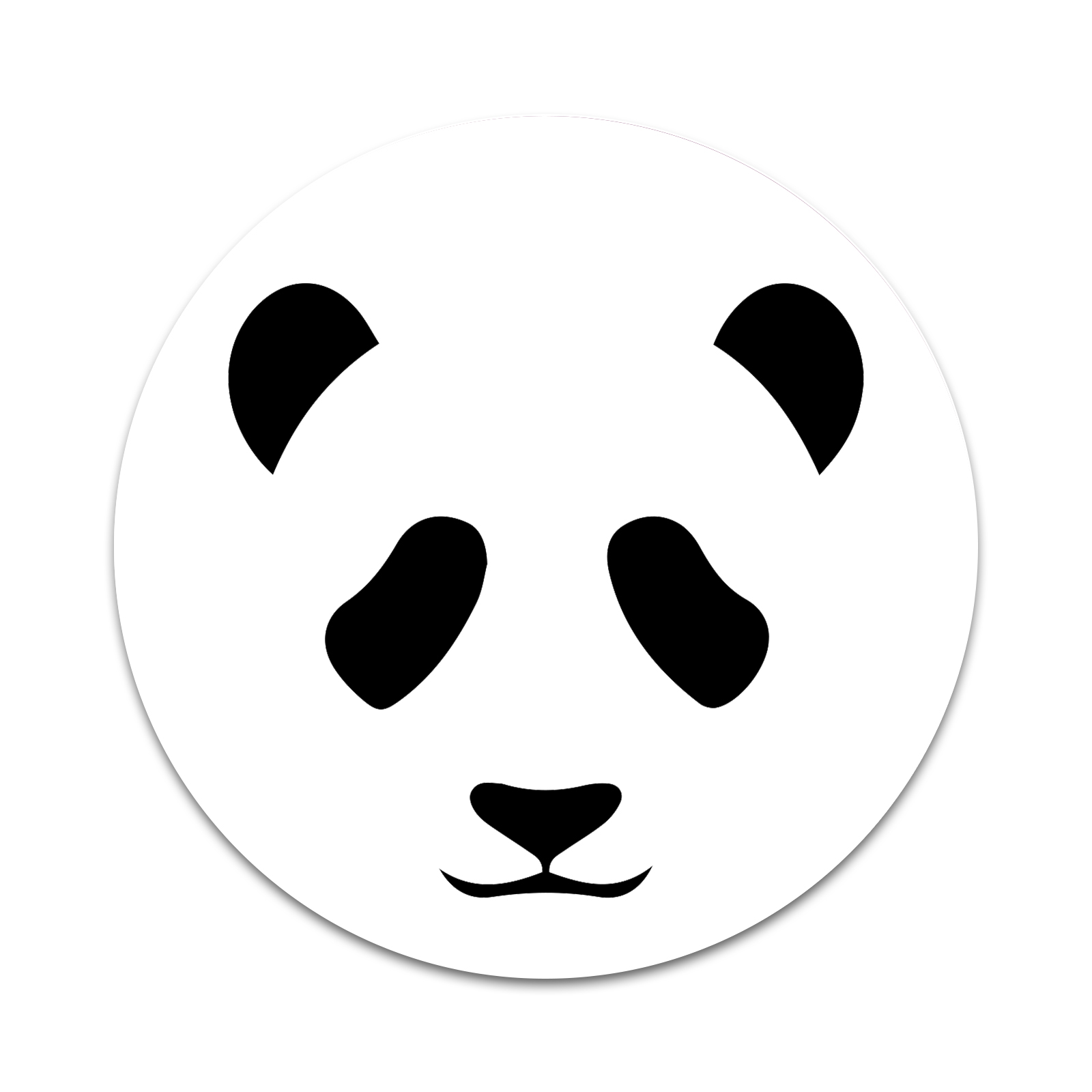 Panda Bear Face 2 Sticker Set For Pop Grip Stent For