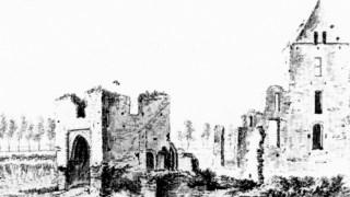 En een tekening van de ruine van waarschijnlijk het Hof te Maasbommel