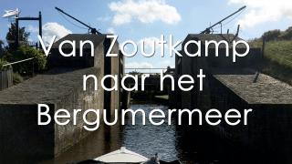 Varen met de Canicula - Vaarroute Rondje Noord Friesland van Zoutkamp naar het Bergumermeer