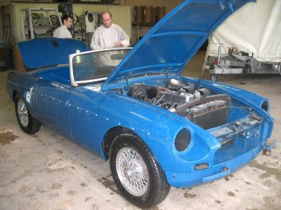 sablage carrosserie auto restauration de voiture