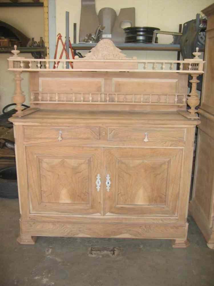 micro-sablage meuble ancien pour restauration