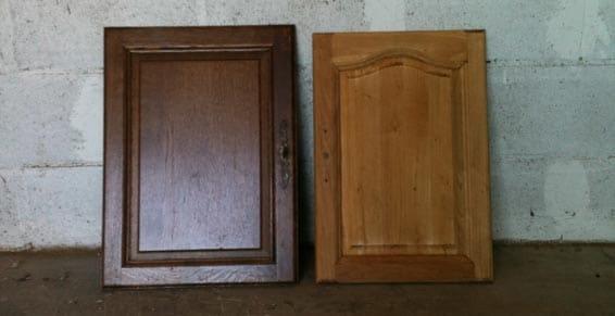 décapage qualité ponçage de portes en bois vernis