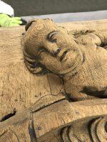 angelot sculpté décapage statue bois