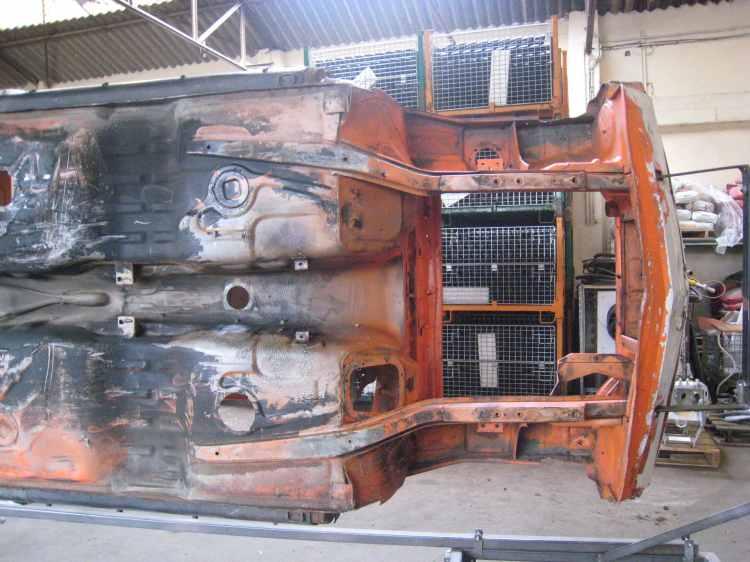 Sous le chassis de la BM 2002