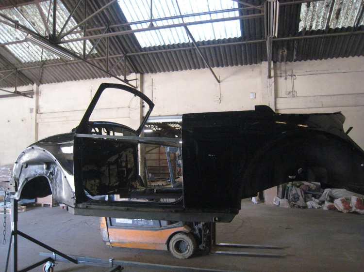 vw cox cab aérogommage