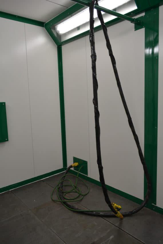 cabine decapage vegetal 4x3m lance