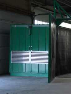 cabine de décapage au corindon