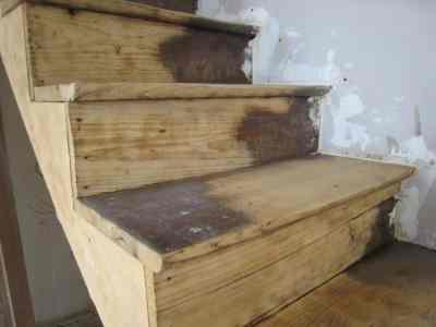 decapsoft nettoyage cryogénique escalier en bois
