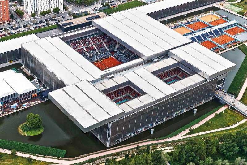 Palcos Vip Tenis - Mutua Madrid Open - caja magica vision aerea - decateam 2