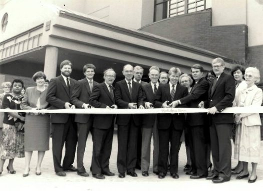 Ribbon cutting, 1988.