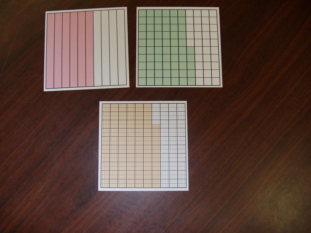 Decimal Squares Worksheets